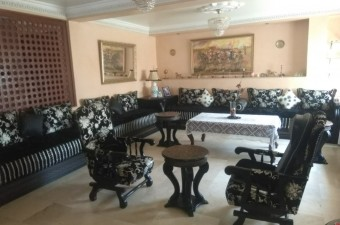 A beautiful family apartment, located in a residential area, very quiet and secure, near Kortobi Hospital.
