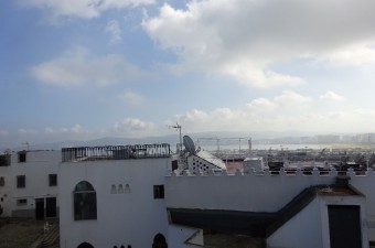 House with view of the bay of Tangier.