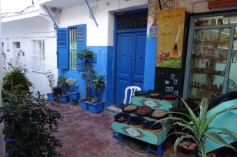 Charming little house near the famous little socco in the old medina of Tangier.